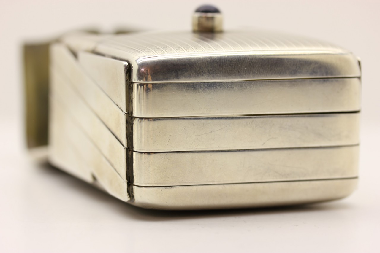 ziehharmonika Etui. accordion case silver Louis Kuppenheim