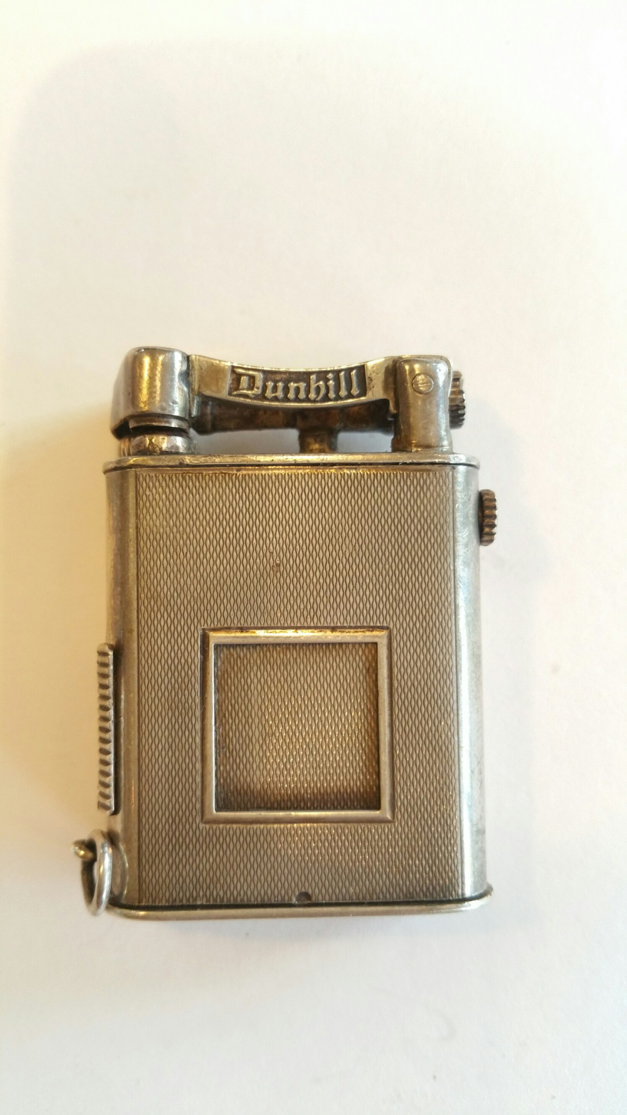 sarastro silver lighter made for dunhill uhrenfeuerzeug petrol benzin
