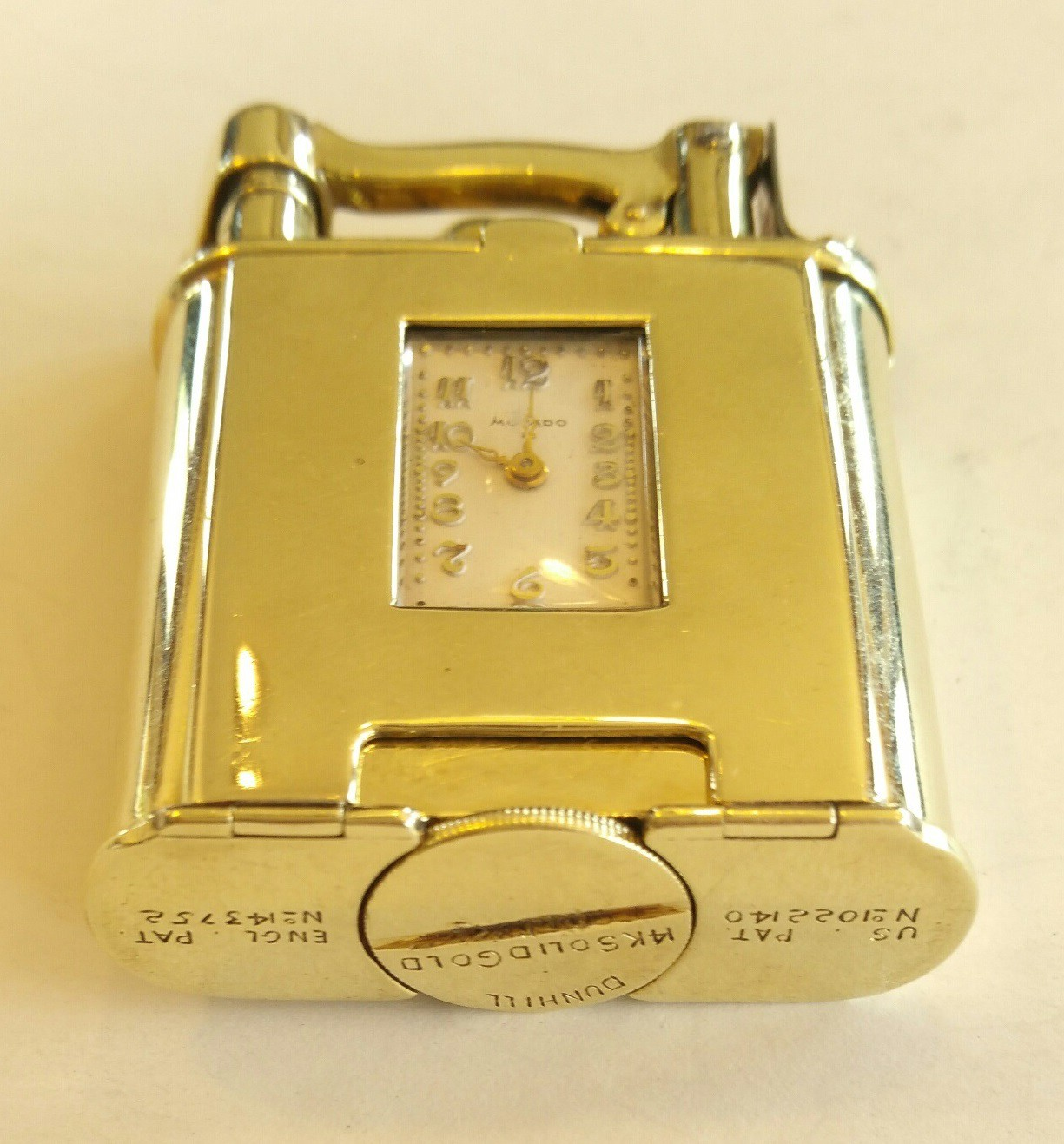 watch lighter selfwinder dunhill gold 585 14c.