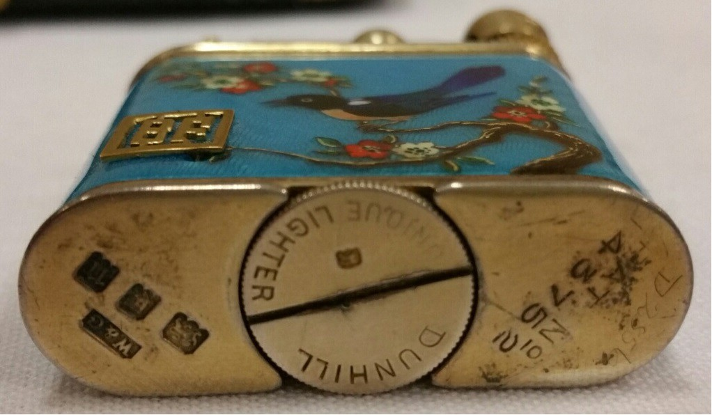 silver enamel lighter feuerzeug W&G Wise and greenwood kuppenheim louis