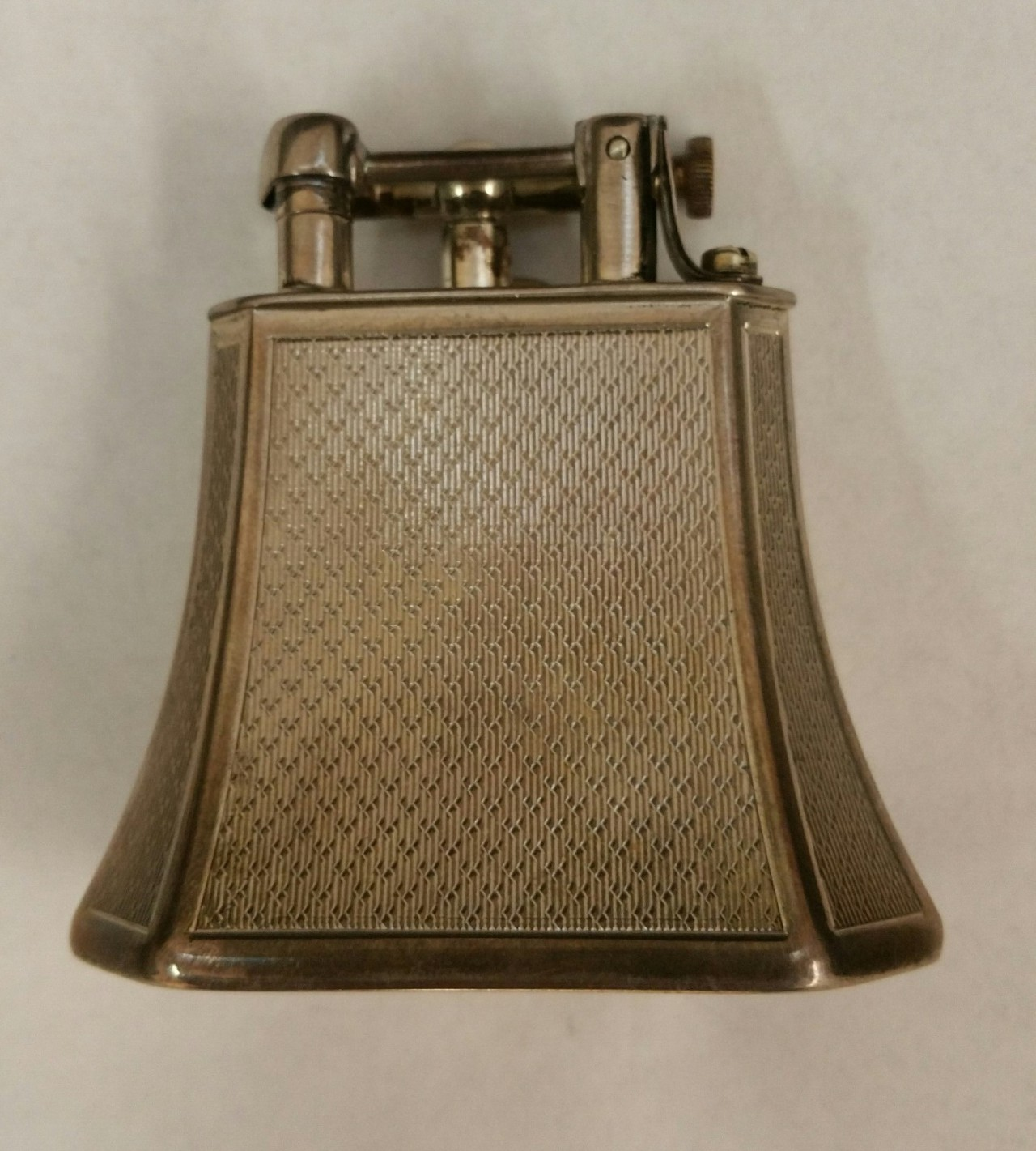 fancy shape dunhill table lighter silver