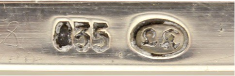 Silberstempel um 1924 bis 1930. Silver mark between 1924 to 1930.